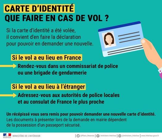 déclaration vol carte identité Carte d'identité : que faire en cas de vol? / Brèves / Actualités