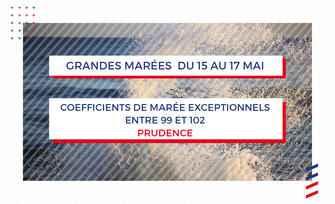 Grandes marées, du 15 au 17 mai, coefficients exceptionnels : Prudence