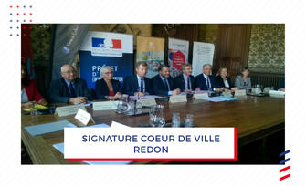 Signature de la convention « Action cœur de ville » à Redon